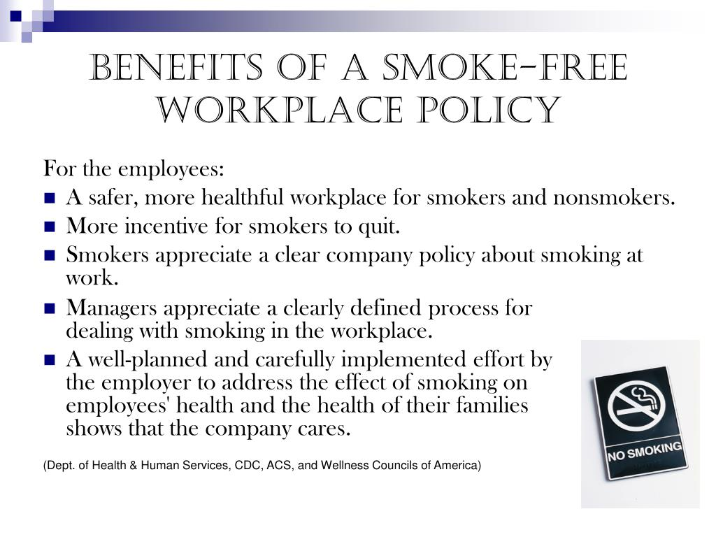 Benefits of a Smoke-free workplace policy