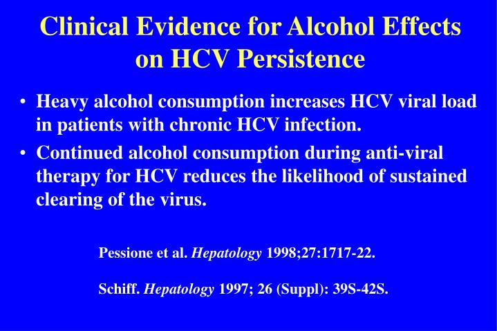Clinical Evidence for Alcohol Effects on HCV Persistence
