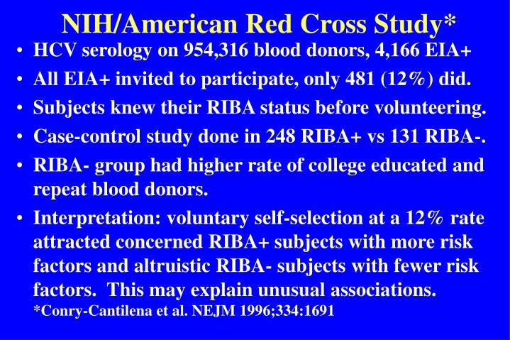 NIH/American Red Cross Study*