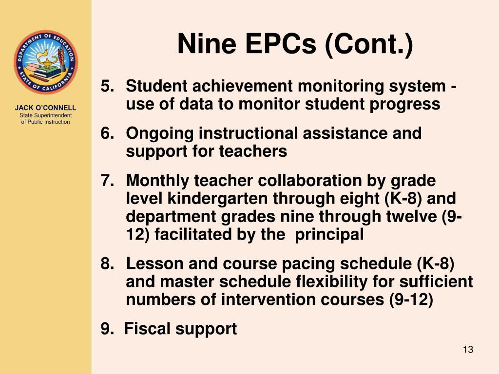 Nine EPCs (Cont.)
