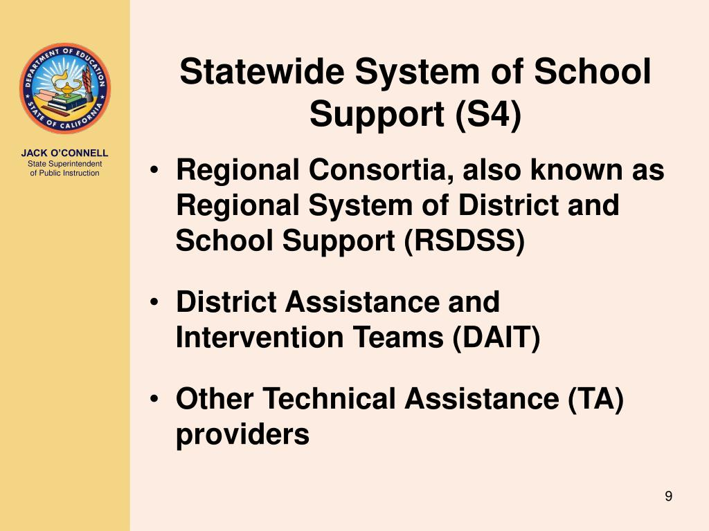 Statewide System of School Support (S4)