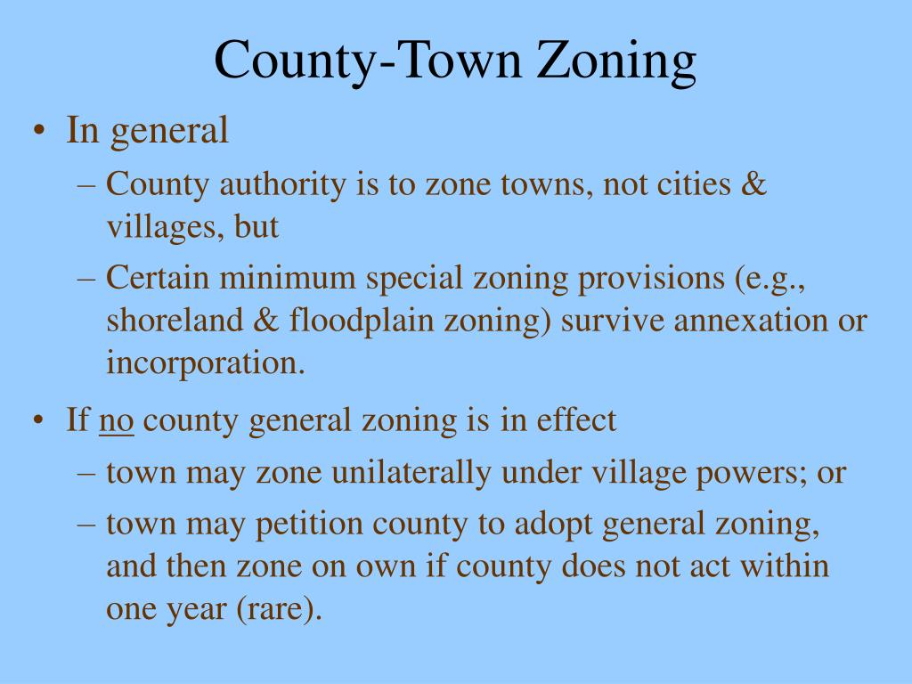 County-Town Zoning