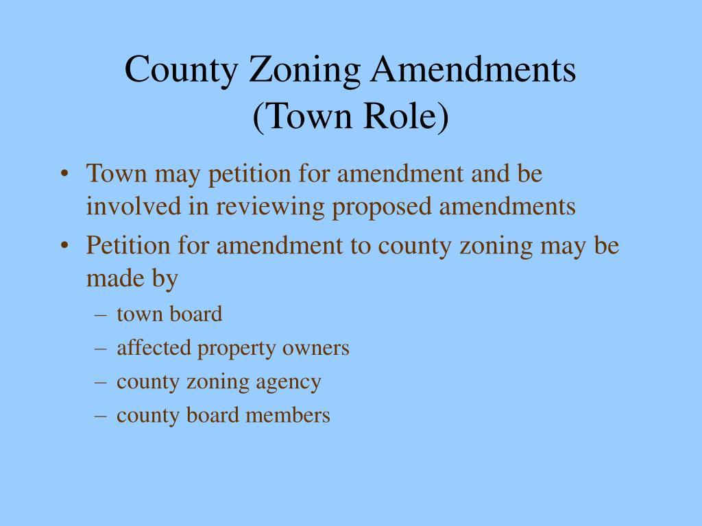 County Zoning Amendments