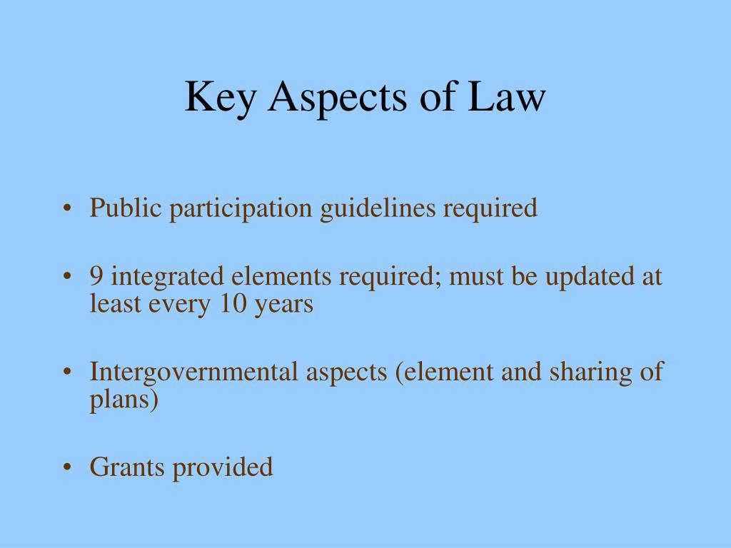 Key Aspects of Law