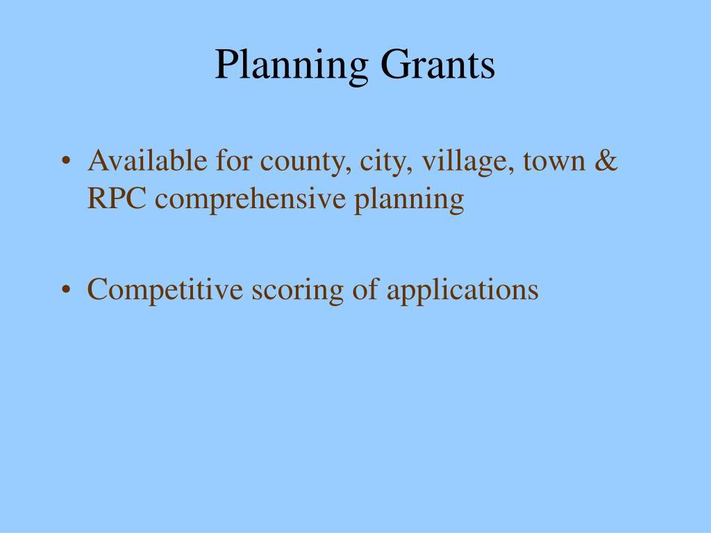 Planning Grants