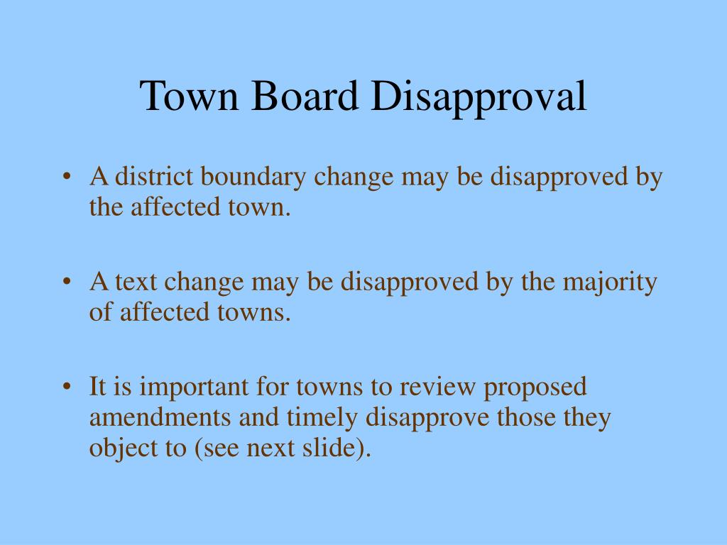 Town Board Disapproval