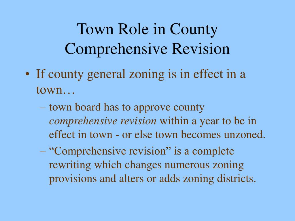Town Role in County Comprehensive Revision