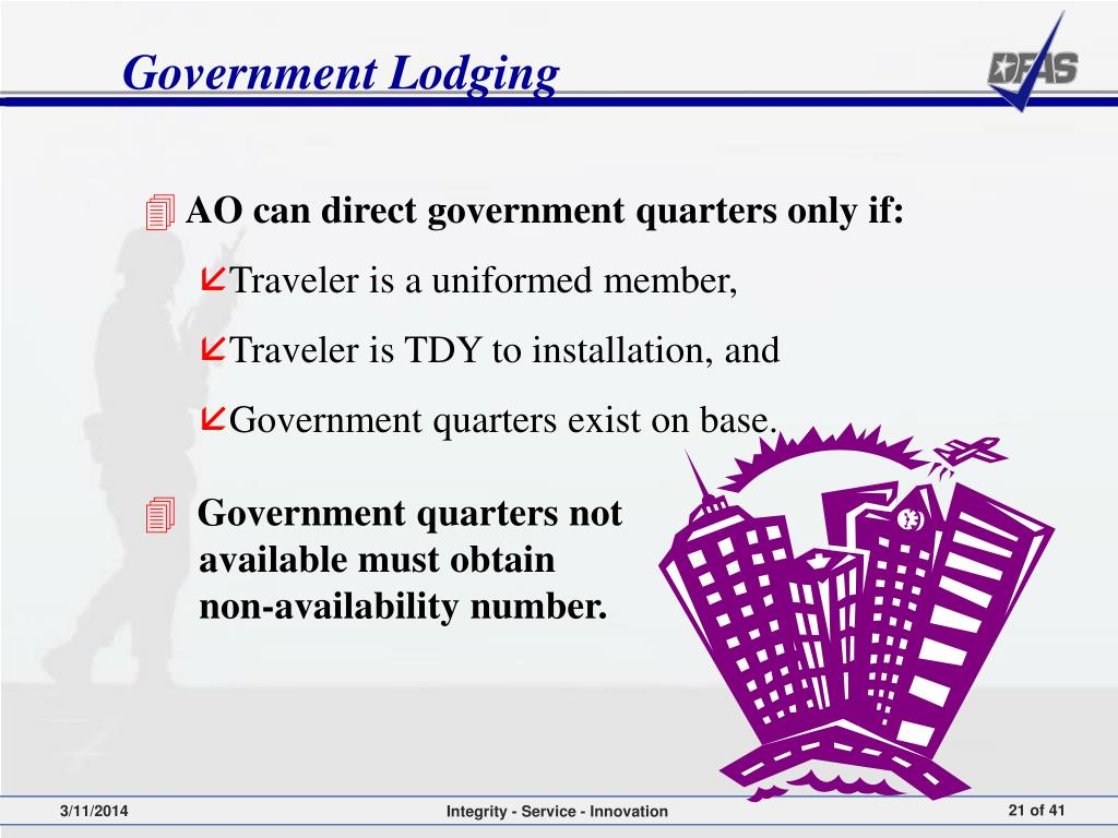 Government Lodging