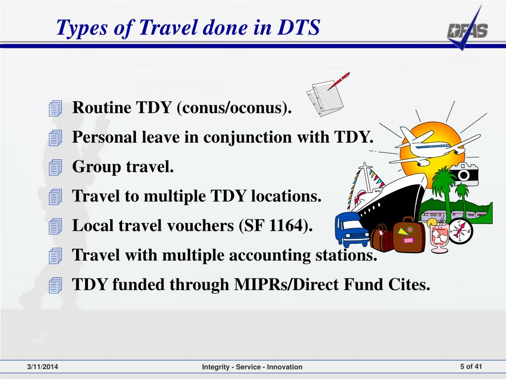 Types of Travel done in DTS
