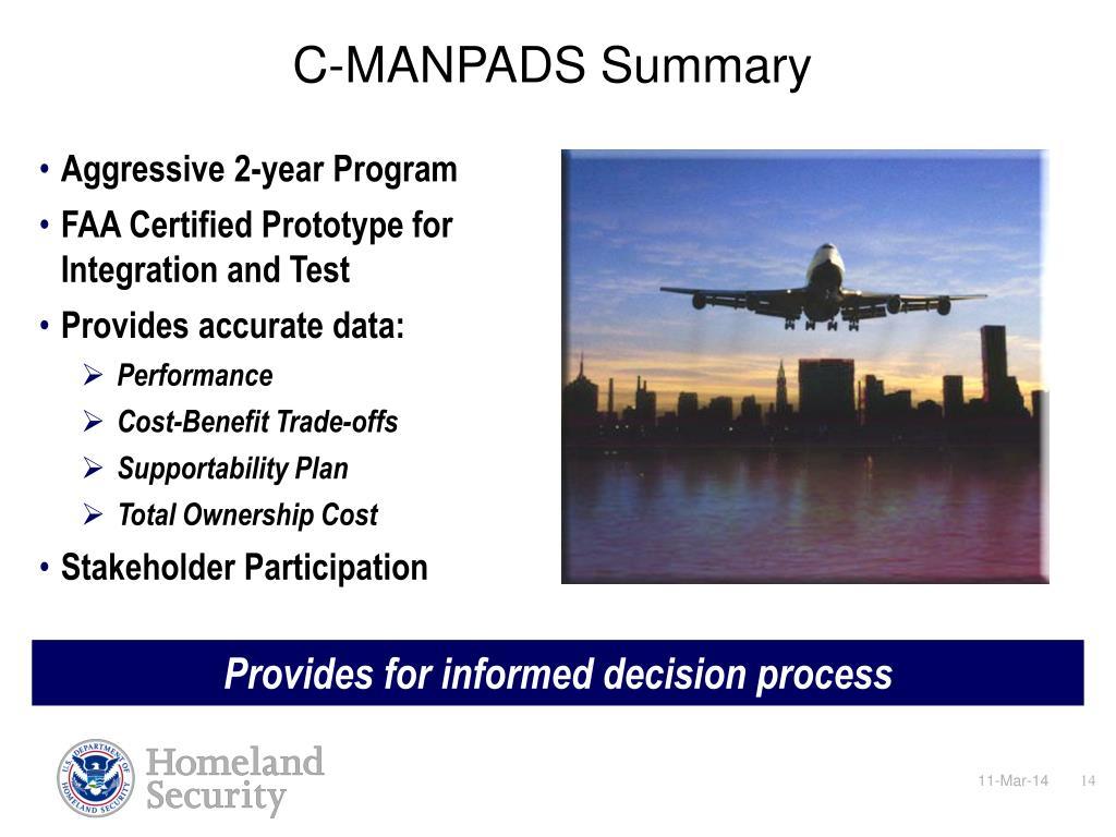 C-MANPADS Summary
