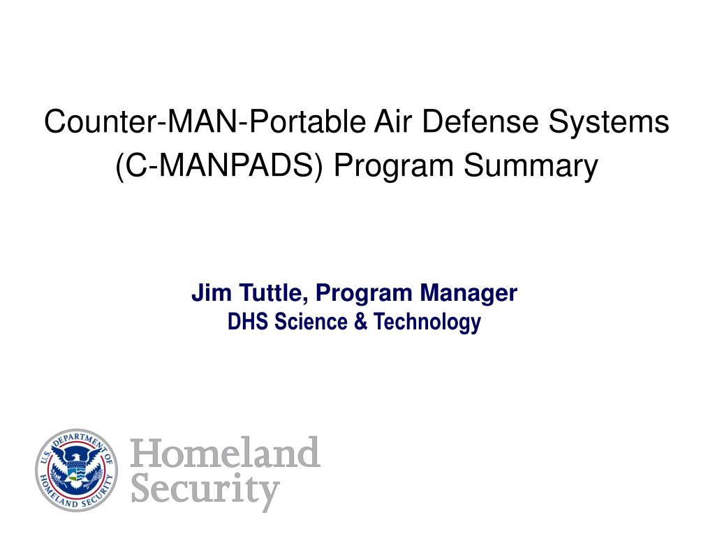 Counter-MAN-Portable Air Defense Systems