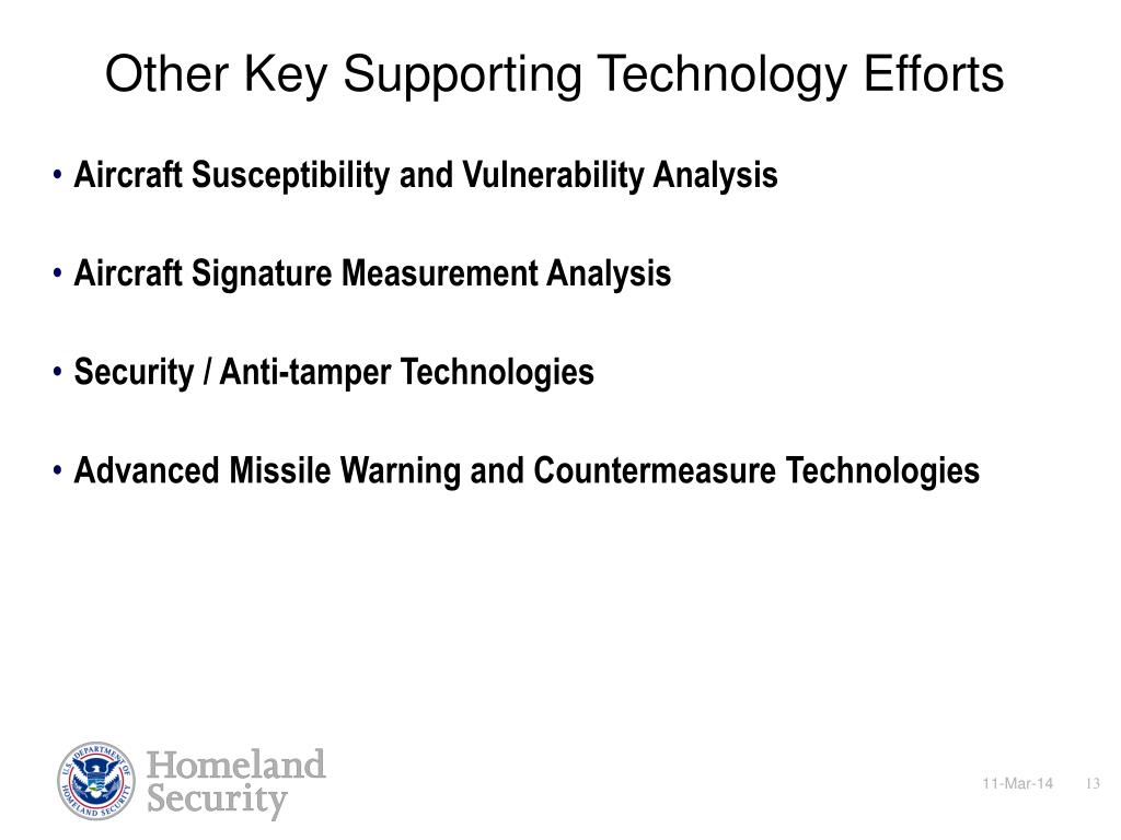 Other Key Supporting Technology Efforts