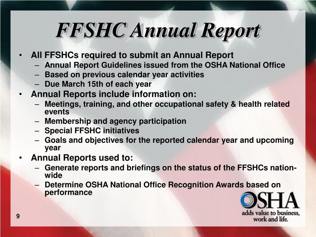 FFSHC Annual Report