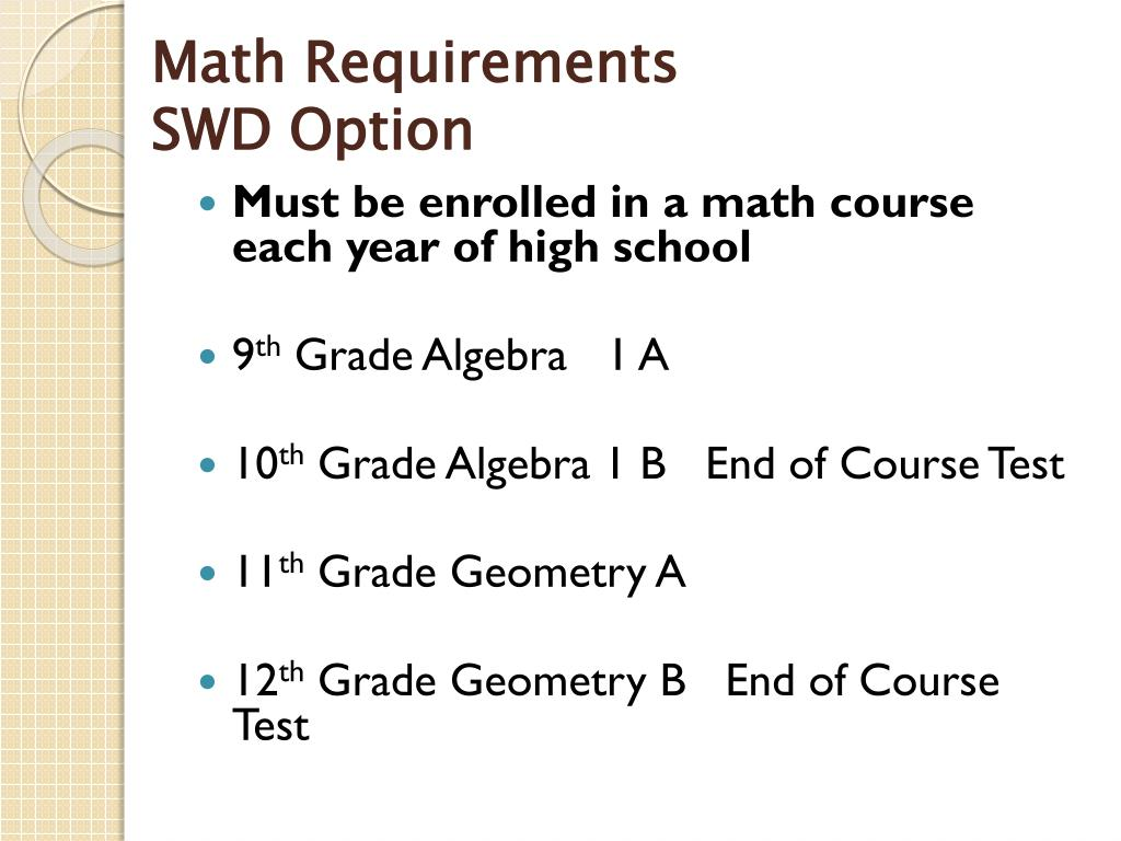 Math Requirements