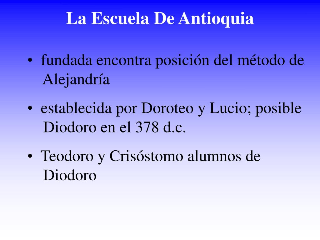 La Escuela De Antioquia