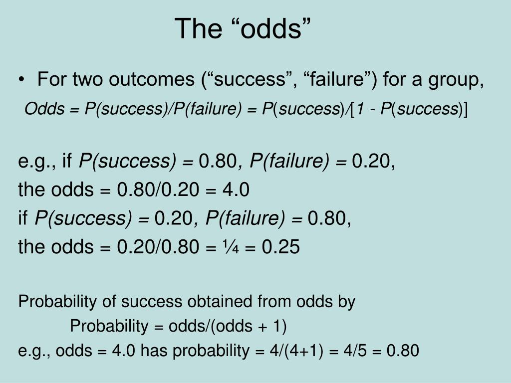 """The """"odds"""""""