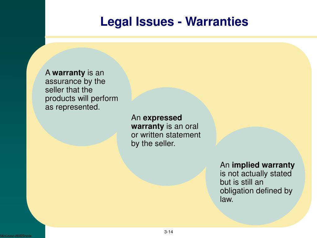 Legal Issues - Warranties