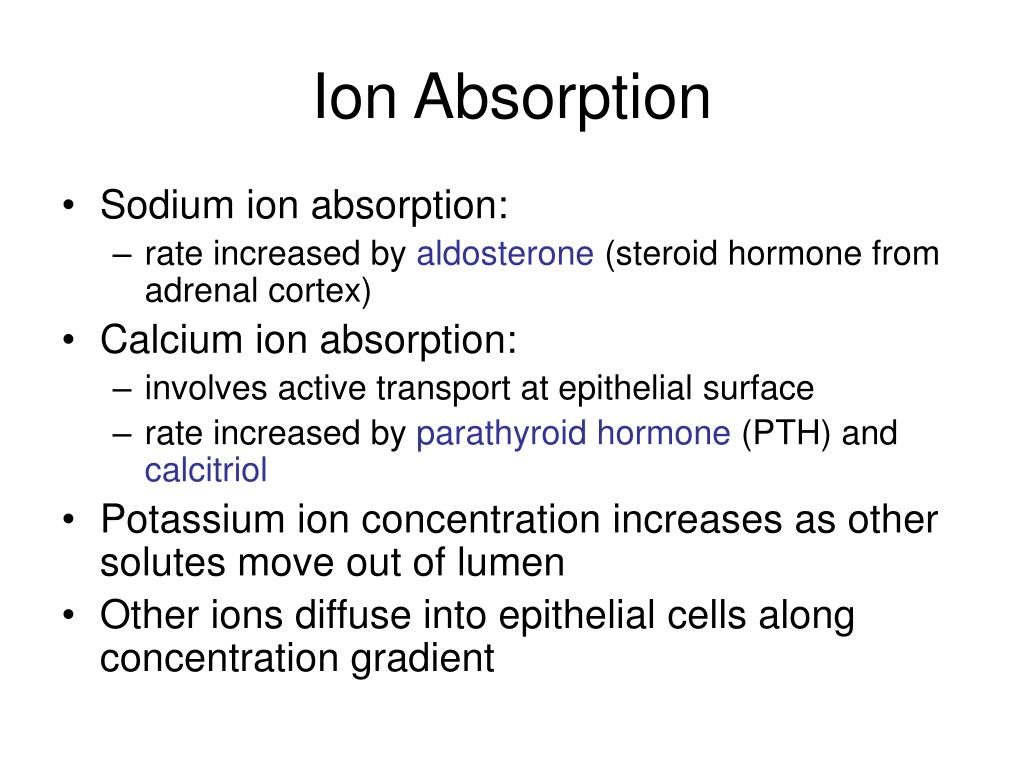 Ion Absorption