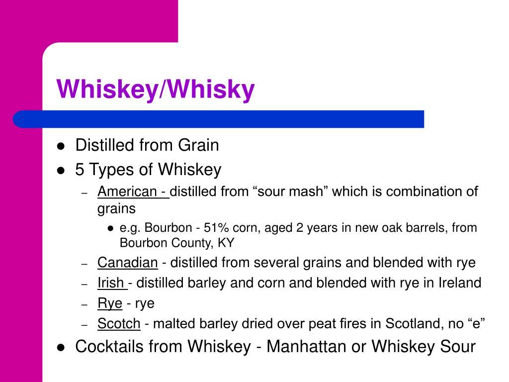 Whiskey/Whisky