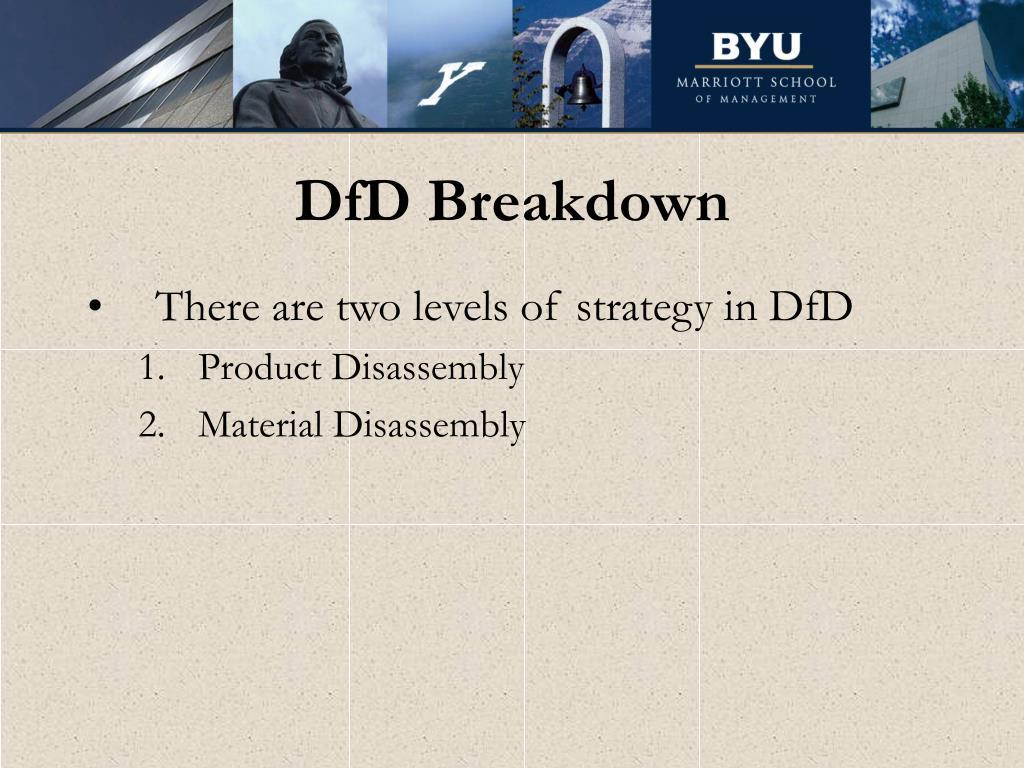 DfD Breakdown