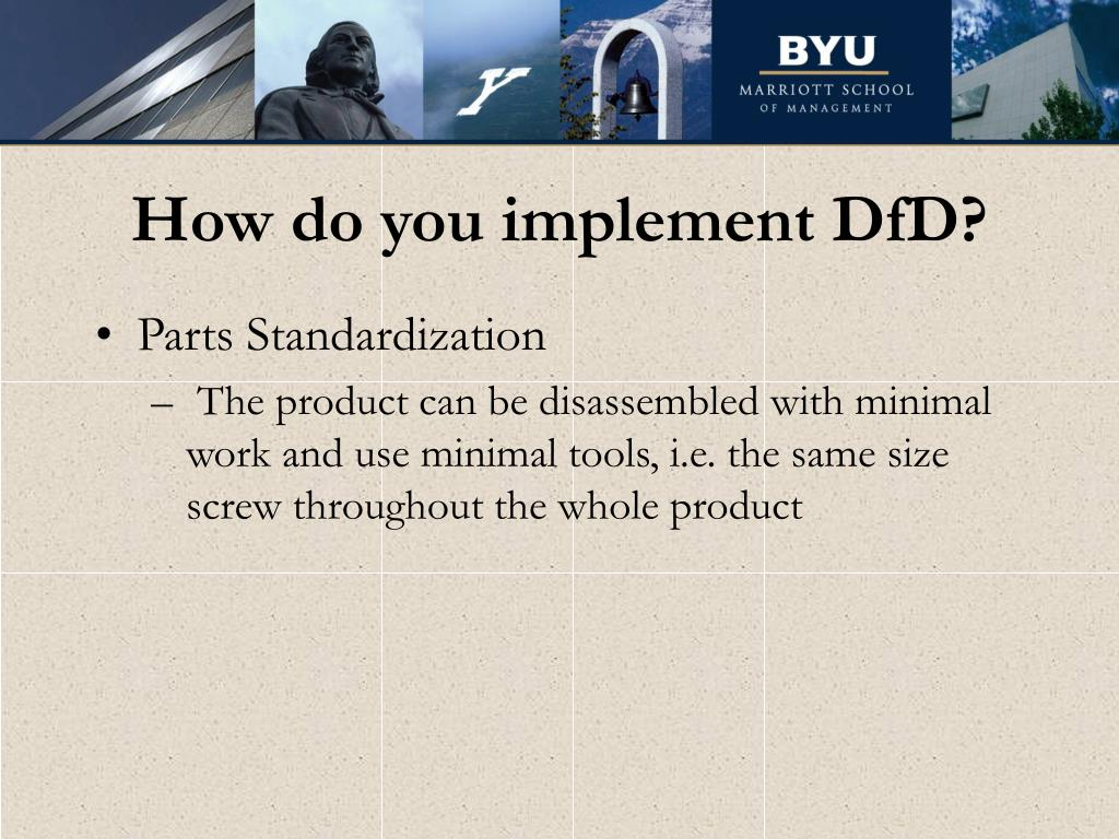 How do you implement DfD?