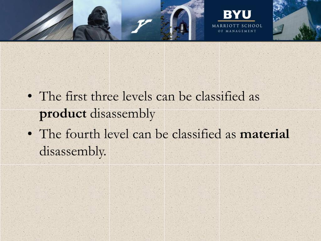 The first three levels can be classified as