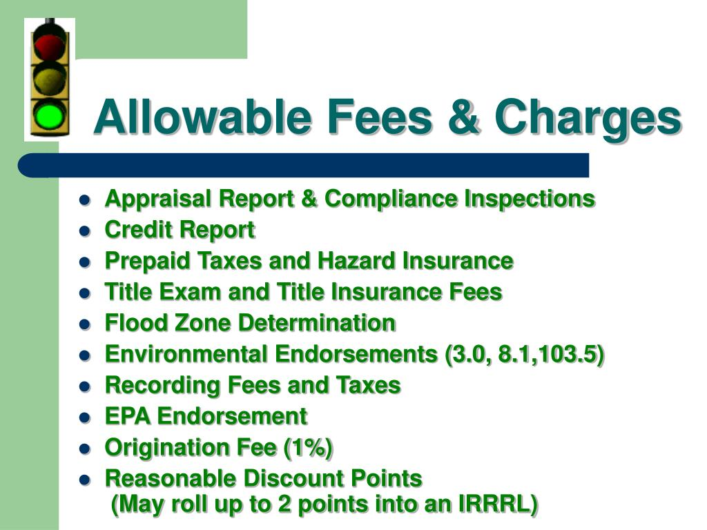 Allowable Fees & Charges
