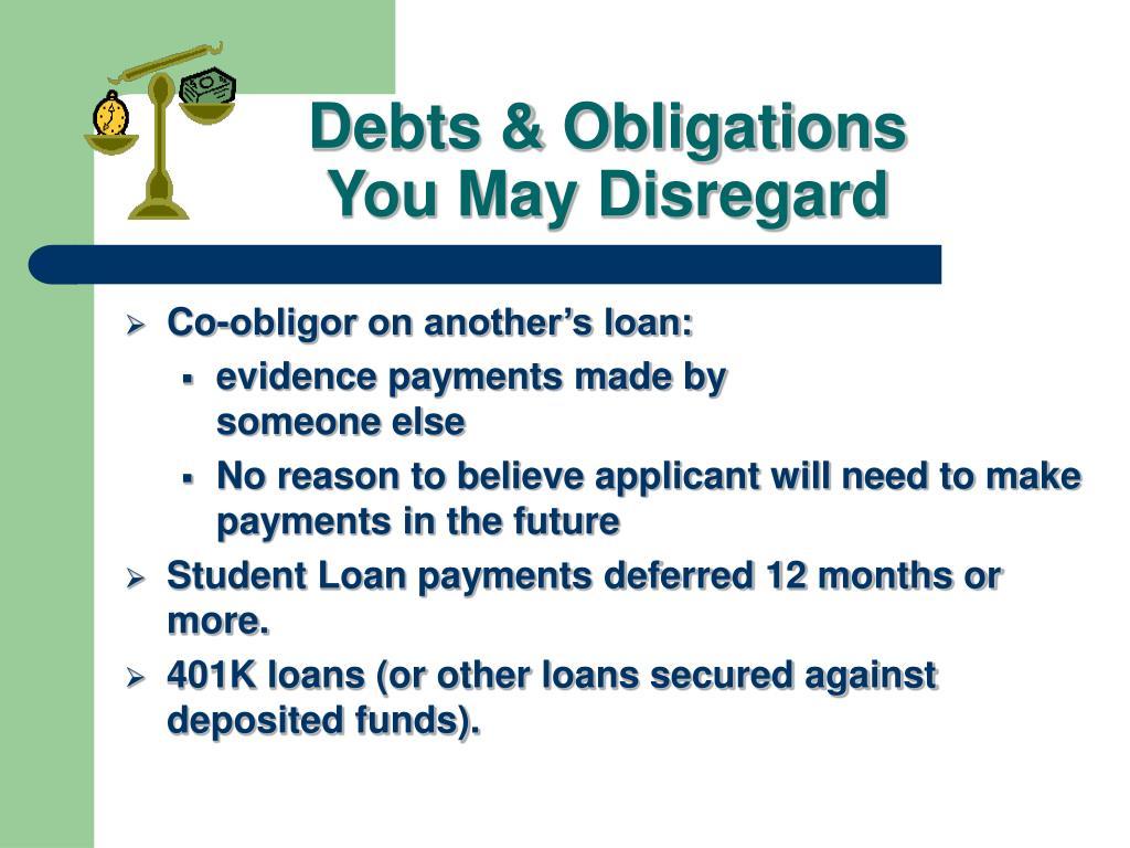 Debts & Obligations