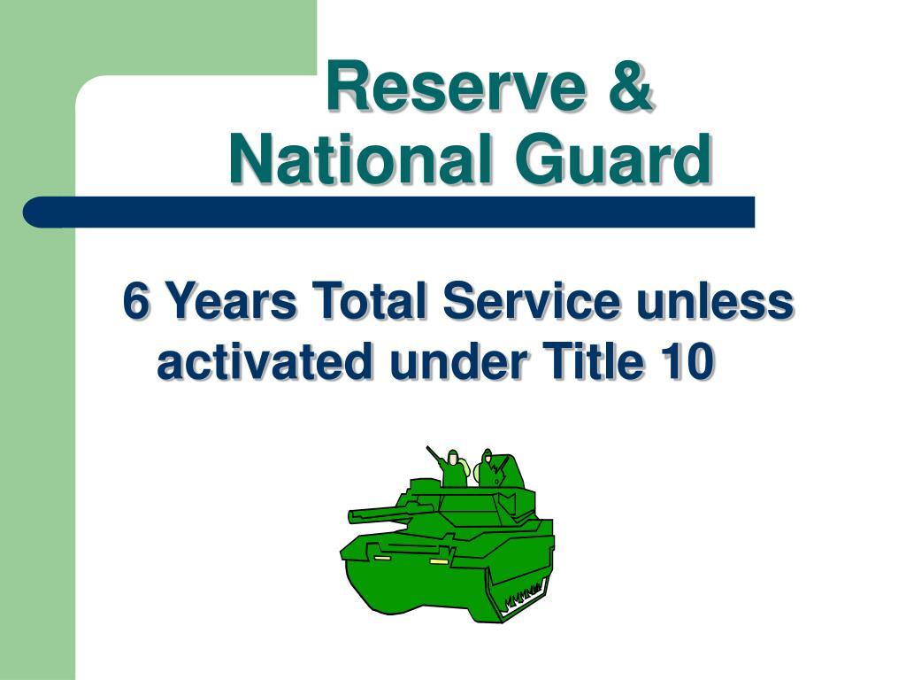 Reserve &