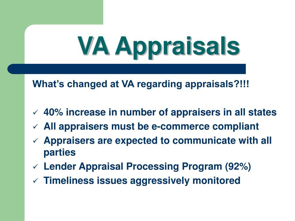 VA Appraisals
