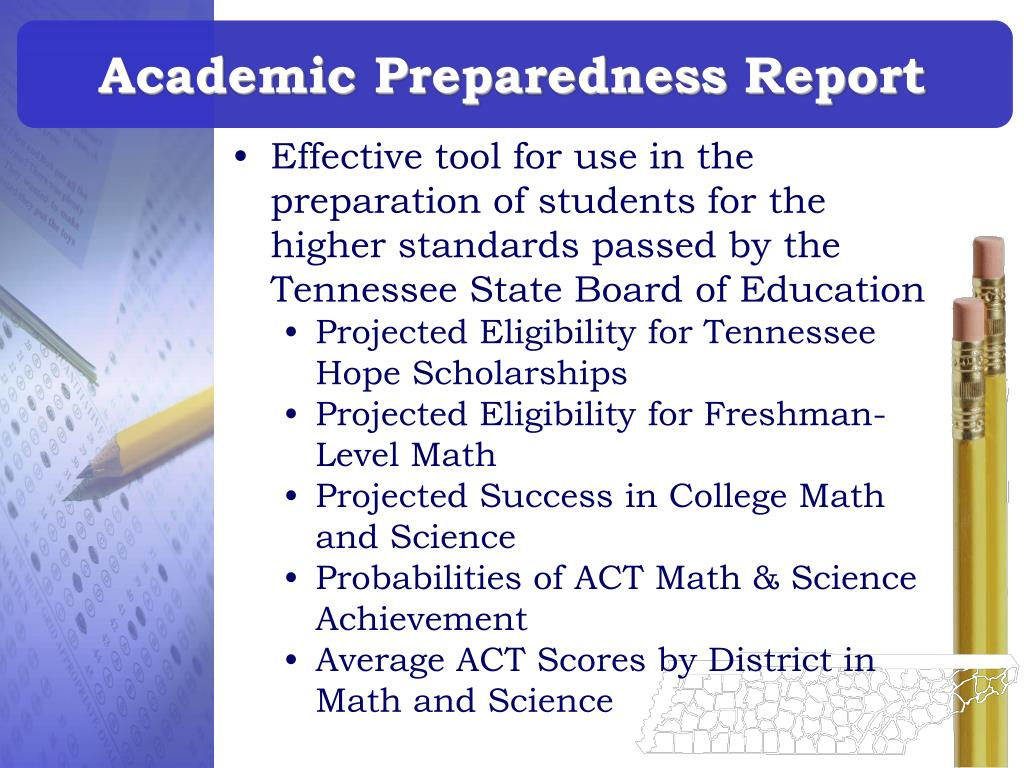 Academic Preparedness Report
