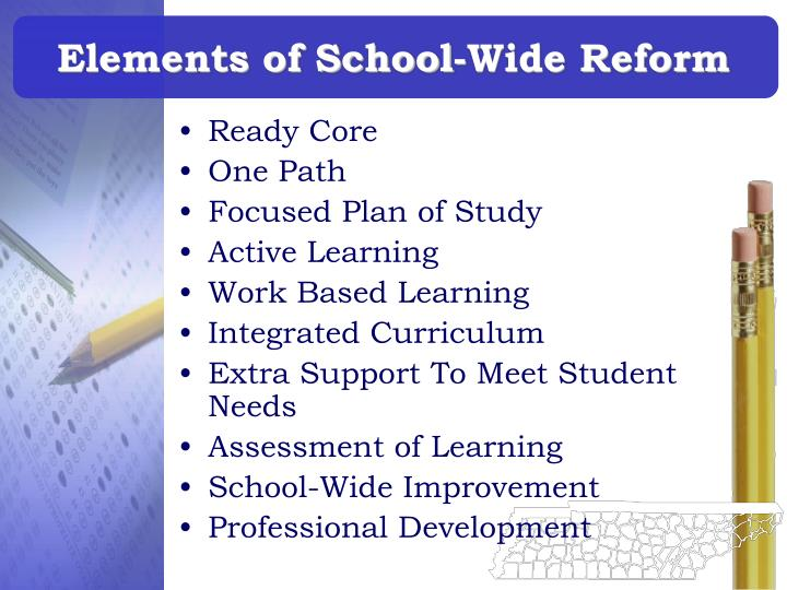 Elements of school wide reform l.jpg