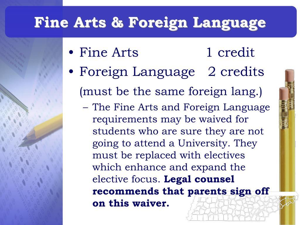 Fine Arts & Foreign Language