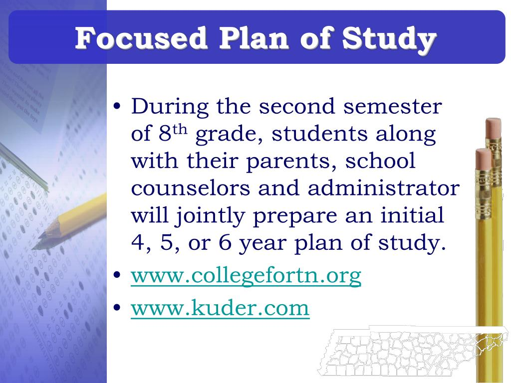 Focused Plan of Study