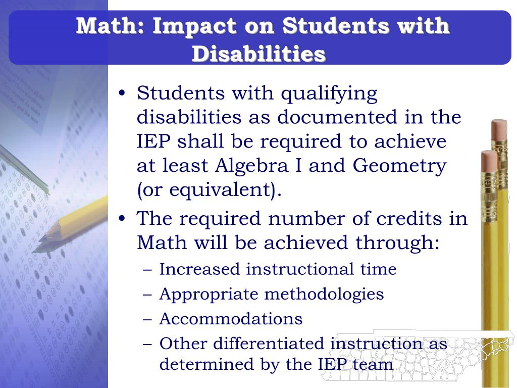 Math: Impact on Students with Disabilities