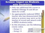science impact on students with disabilities29