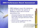swd performance based assessment