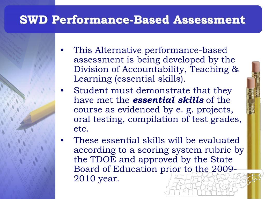 SWD Performance-Based Assessment