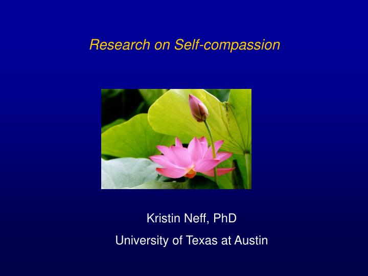 Research on Self-compassion