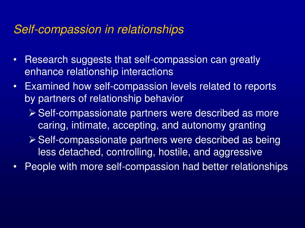 Self-compassion in relationships