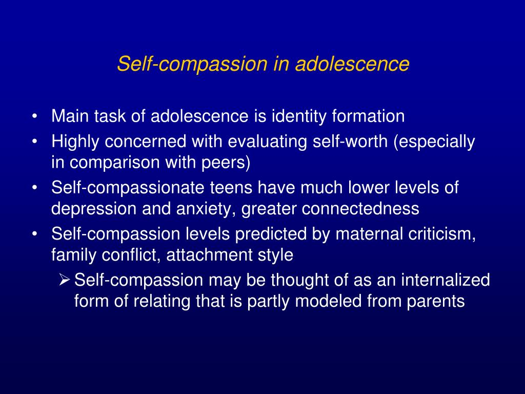 Self-compassion in adolescence