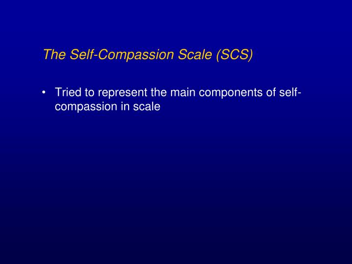 The Self-Compassion Scale (SCS)