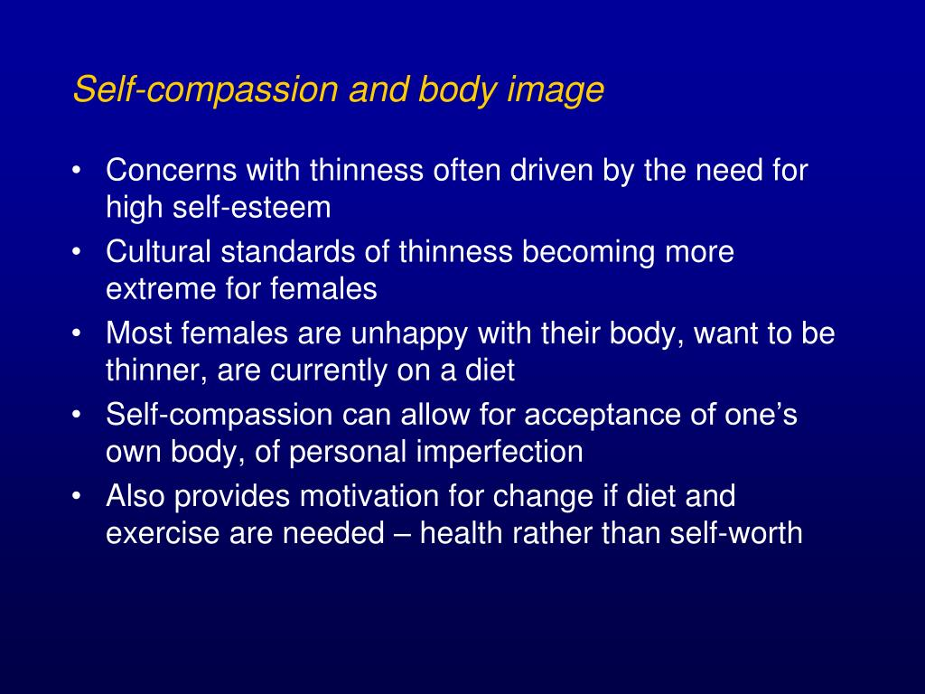 Self-compassion and body image