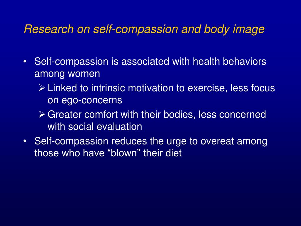 Research on self-compassion and body image