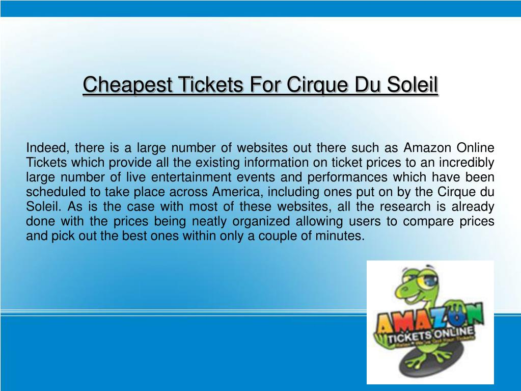 Cheapest Tickets For Cirque Du Soleil