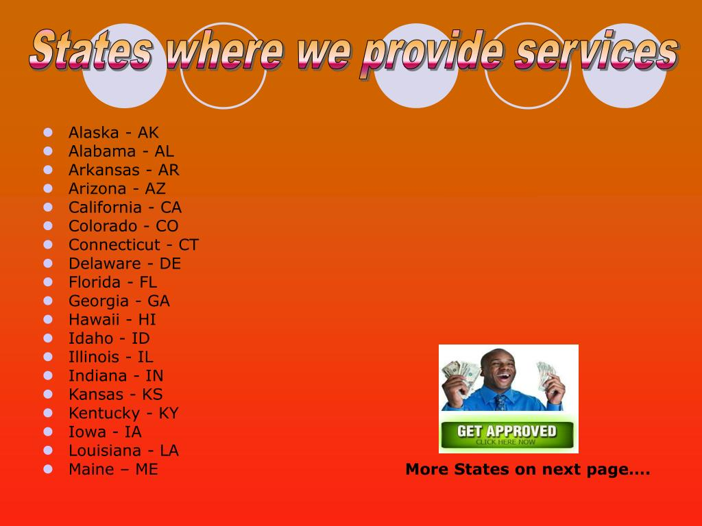 States where we provide services