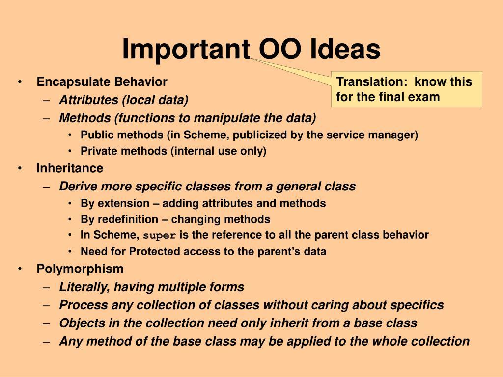 Important OO Ideas