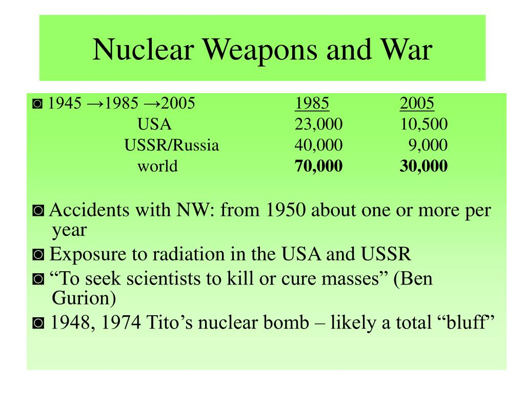 Nuclear Weapons and War