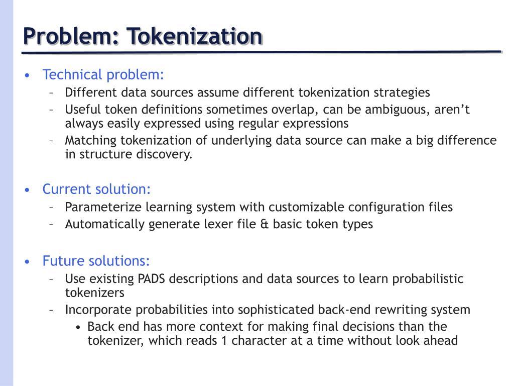 Problem: Tokenization