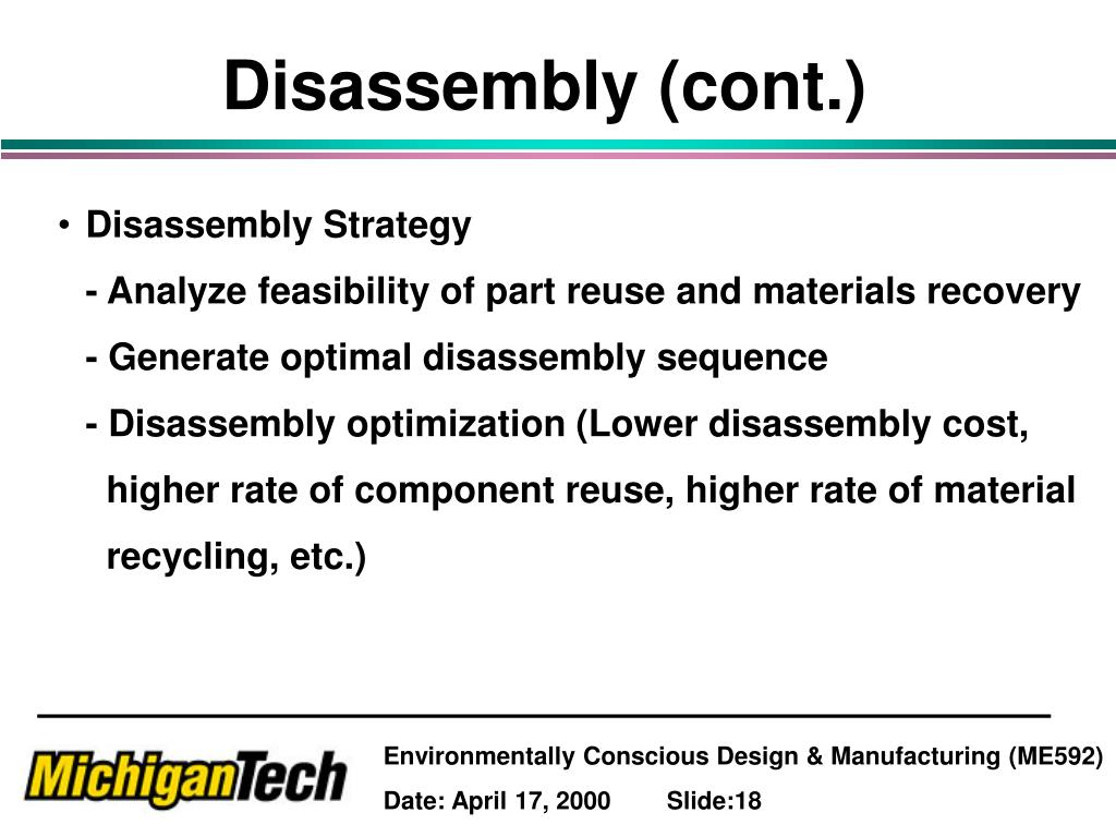 Disassembly (cont.)